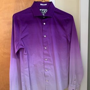 Express limited edition ombré fitted dress shirt